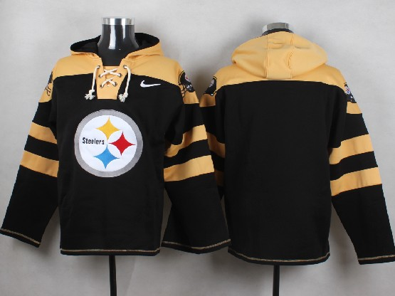 Mens Nfl Pittsburgh Steelers (blank) Black (new Single Color) Hoodie Jersey