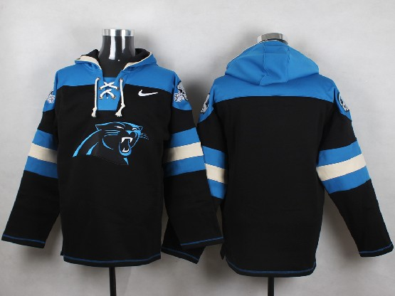 Mens Nfl Carolina Panthers (blank) Blue (new Single Color) Hoodie Jersey
