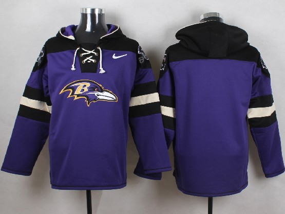 Mens Nfl Baltimore Ravens (blank) Purple (new Single Color) Hoodie Jersey