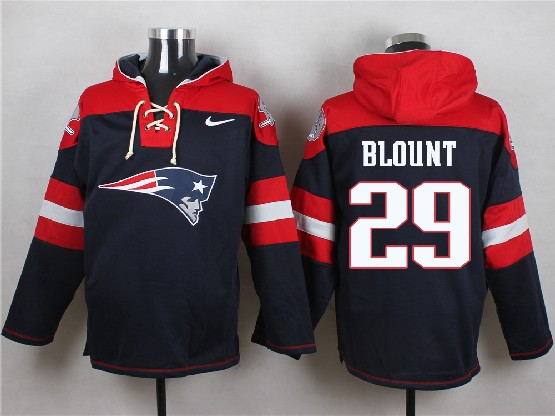 mens nfl new England Patriots #29 LeGarrette Blount blue (new single color) hoodie jersey