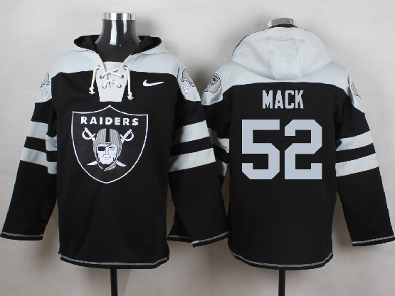 Mens nfl oakland raiders #52 mack black (new single color) hoodie Jersey