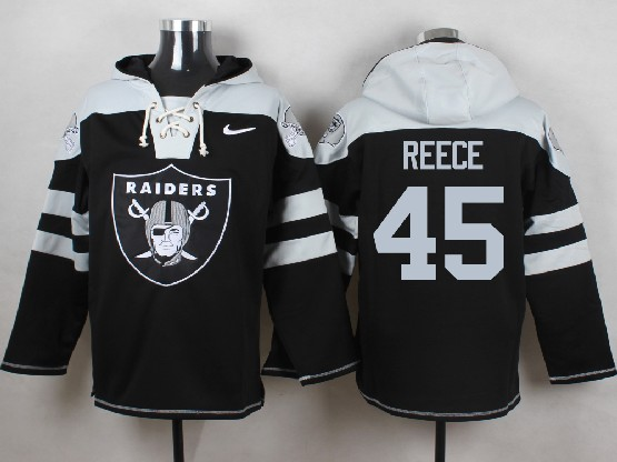 Mens nfl oakland raiders #45 reece black (new single color) hoodie Jersey