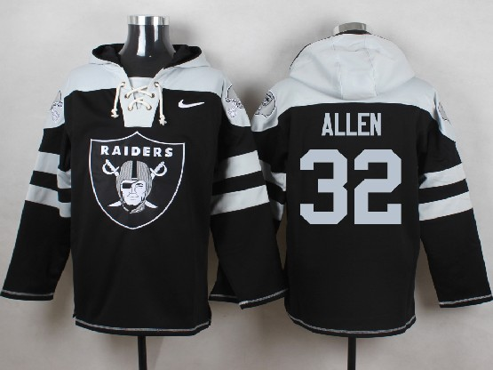 Mens nfl oakland raiders #32 allen black (new single color) hoodie Jersey