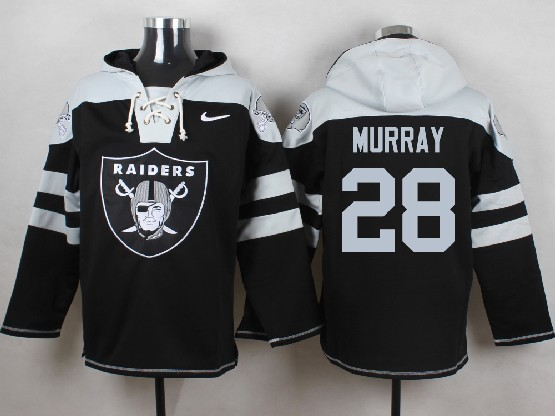 Mens nfl oakland raiders #28 murray black (new single color) hoodie Jersey
