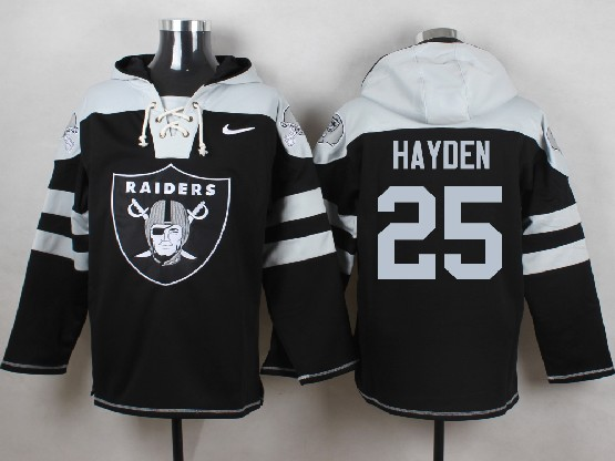 Mens nfl oakland raiders #25 hayden black (new single color) hoodie Jersey