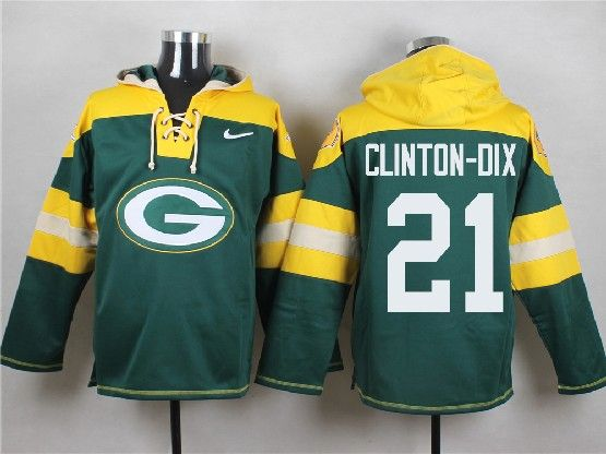 mens nfl Green Bay Packers #21 Haha Clinton-Dix green (new single color) hoodie jersey dt