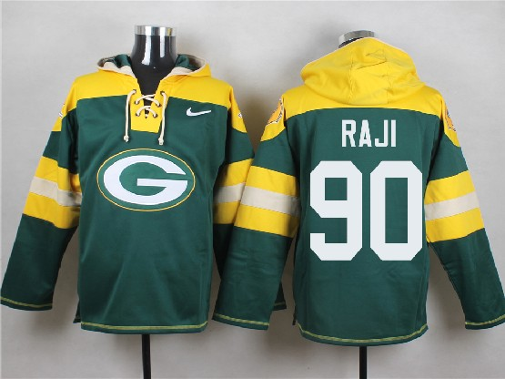 Mens Nfl Green Bay Packers #90 Raji Green (new Single Color) Hoodie Jersey Dt