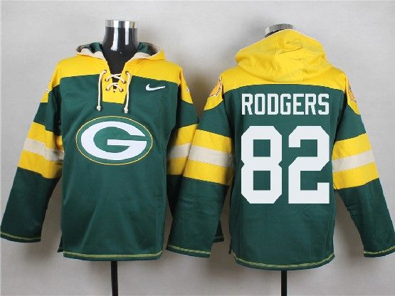 Mens Nfl Green Bay Packers #82 Rodgers Green (new Single Color) Hoodie Jersey Dt