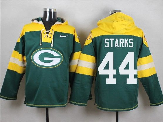 Mens Nfl Green Bay Packers #44 Starks Green (new Single Color) Hoodie Jersey