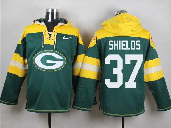 Mens Nfl Green Bay Packers #37 Shields Green (new Single Color) Hoodie Jersey
