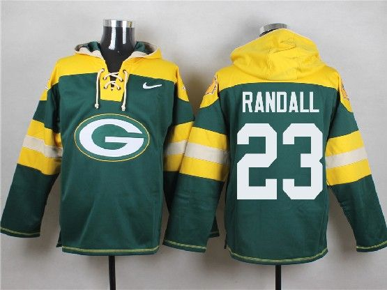 Mens Nfl Green Bay Packers #23 Randall Green (new Single Color) Hoodie Jersey