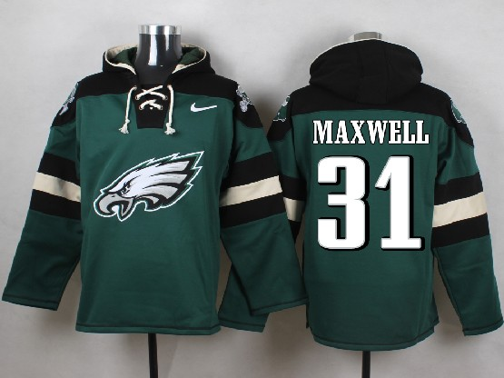Mens nfl philadelphia eagles #31 maxwell green (new single color) hoodie Jersey