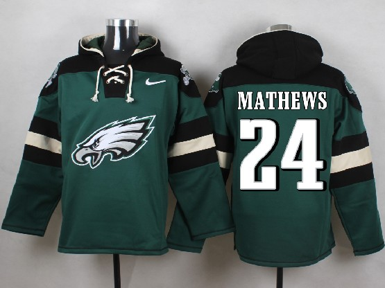 Mens Nfl Philadelphia Eagles #24 Mathews Green (new Single Color) Hoodie Jersey