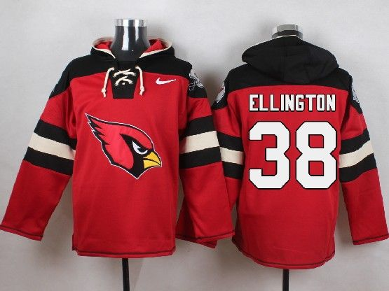 Mens Nfl Arizona Cardinals #38 Andre Ellington Red (new Single Color) Hoodie Jersey