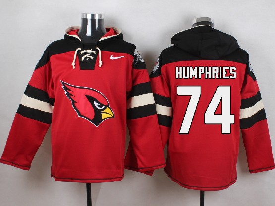 Mens Nfl Arizona Cardinals #74 D.j. Humphries Red (new Single Color) Hoodie Jersey
