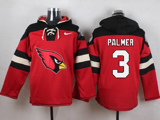 Mens Nfl Arizona Cardinals #3 Palmer Red (new Single Color) Hoodie Jersey