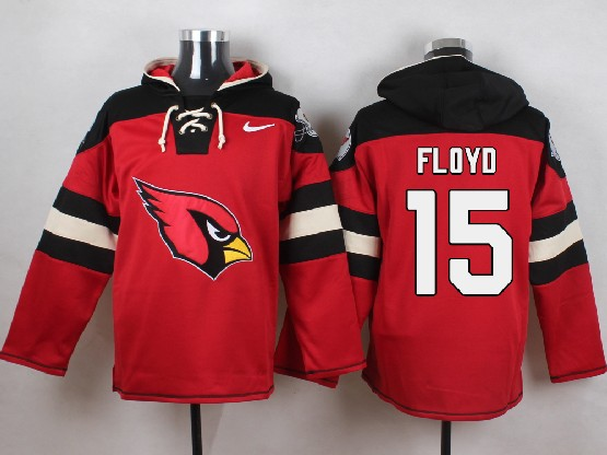 Mens Nfl Arizona Cardinals #15 Michael Floyd Red (new Single Color) Hoodie Jersey