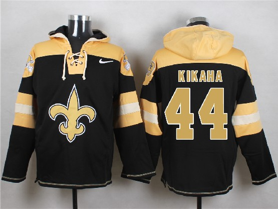 Mens nfl new orleans saints #44 kikaha black (new single color) hoodie Jersey