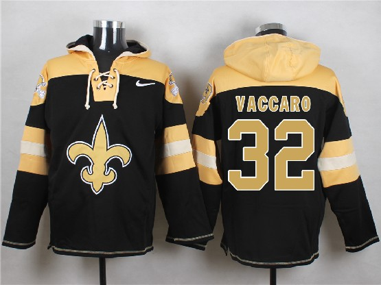 Mens nfl new orleans saints #32 vaccaro black (new single color) hoodie Jersey