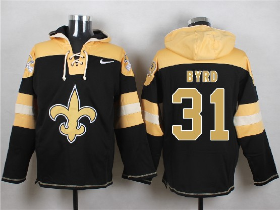 Mens nfl new orleans saints #31 byrd black (new single color) hoodie Jersey