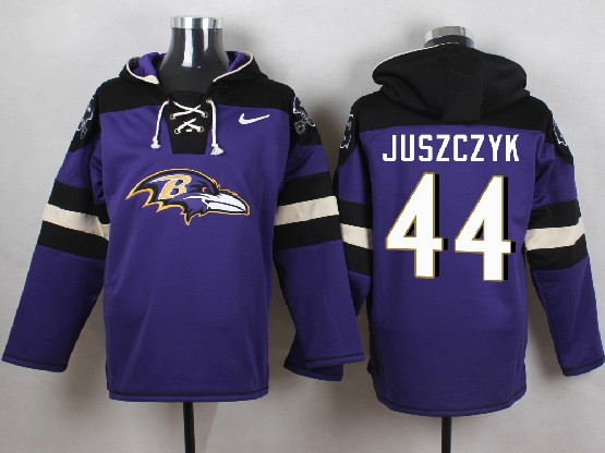 Mens Nfl Baltimore Ravens #44 Kyle Juszczyk Purple (new Single Color) Hoodie Jersey