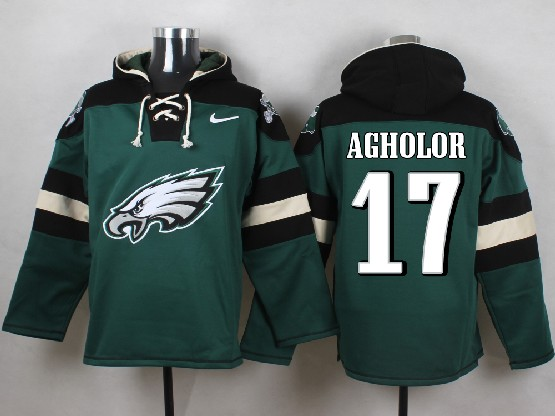 Mens Nfl Philadelphia Eagles #17 Agholor Green (new Single Color) Hoodie Jersey