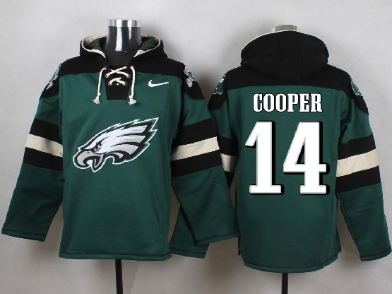 Mens Nfl Philadelphia Eagles #14 Cooper Green (new Single Color) Hoodie Jersey