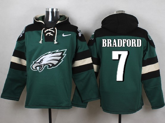 Mens Nfl Philadelphia Eagles #7 Bradford Green (new Single Color) Hoodie Jersey