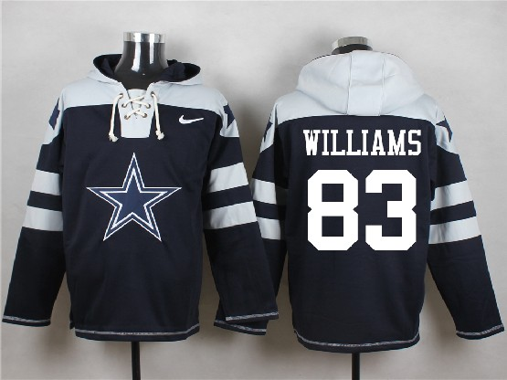 Mens Nfl Dallas Cowboys #83 Williams Blue (new Single Color) Hoodie Jersey