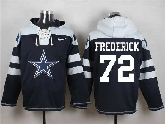 Mens Nfl Dallas Cowboys #72 Frederick Blue (new Single Color) Hoodie Jersey