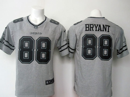 Mens Nfl Dallas Cowboys #88 Bryant Gray (black Number) Limited Jersey