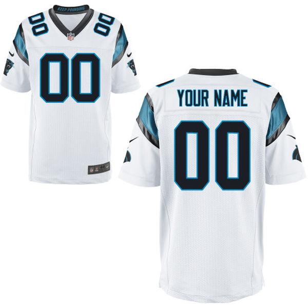Mens   Carolina Panthers White Elite Jersey