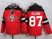 Mens Nfl San Francisco 49ers #87 Clark Red (new Single Color) Hoodie Jersey