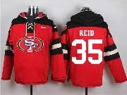 Mens Nfl San Francisco 49ers #35 Reid Red (new Single Color) Hoodie Jersey