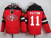 Mens Nfl San Francisco 49ers #11 Patton Red (new Single Color) Hoodie Jersey
