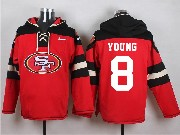 Mens Nfl San Francisco 49ers #8 Young Red (new Single Color) Hoodie Jersey