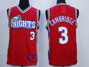 Mens Nba Movie Like Mike Movie Los Angeles Knights #3 Cambridge Red Jersey