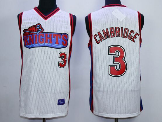 Mens Nba Movie Like Mike Movie Los Angeles Knights #3 Cambridge White Jersey