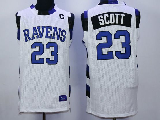 Mens Nba Movie Nathan Scott Lucas #23 White Jersey