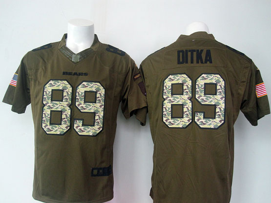 Mens Nfl Chicago Bears #89 Ditka Green Salute To Service Limited Jersey