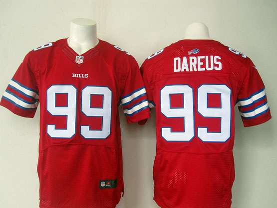 mens nfl Buffalo Bills #99 Marcell Dareus red elite jersey