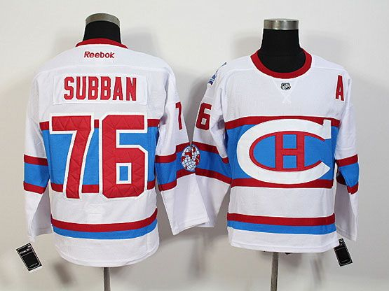 Mens Nhl Montreal Canadiens #76 Subban White 2016 Winter Classic Jersey