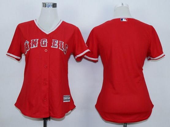 Women  Mlb Los Angeles Angels (blank) Red Jersey