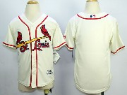 Youth Mlb St.louis Cardinals (blank) Cream Jersey