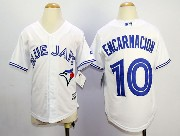 youth mlb toronto blue jays #10 encarnacion white 2012 new style Jersey
