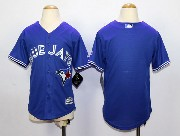 Youth Mlb Toronto Blue Jays (blank) Blue (2012 Majestic) Jersey
