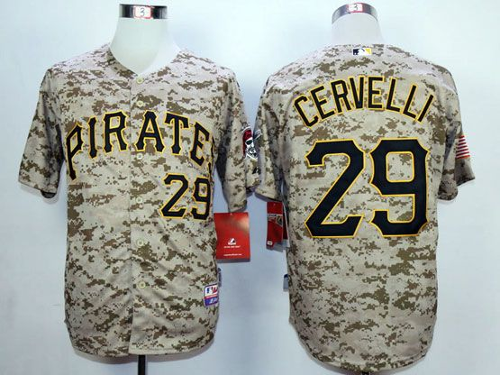 Mens Mlb Pittsburgh Pirates #29 Cervelli Cole Camouflage Painting Jersey