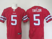 mens nfl Buffalo Bills #5 Tyrod Taylor red elite jersey