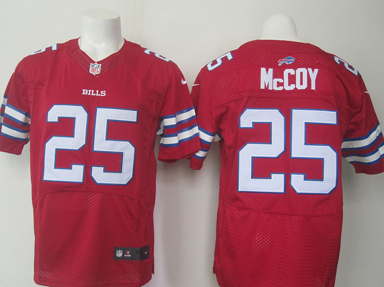 mens nfl Buffalo Bills #25 LeSean McCoy red elite jersey