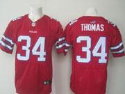 mens nfl buffalo bills #34 Thurman Thomas red elite jersey